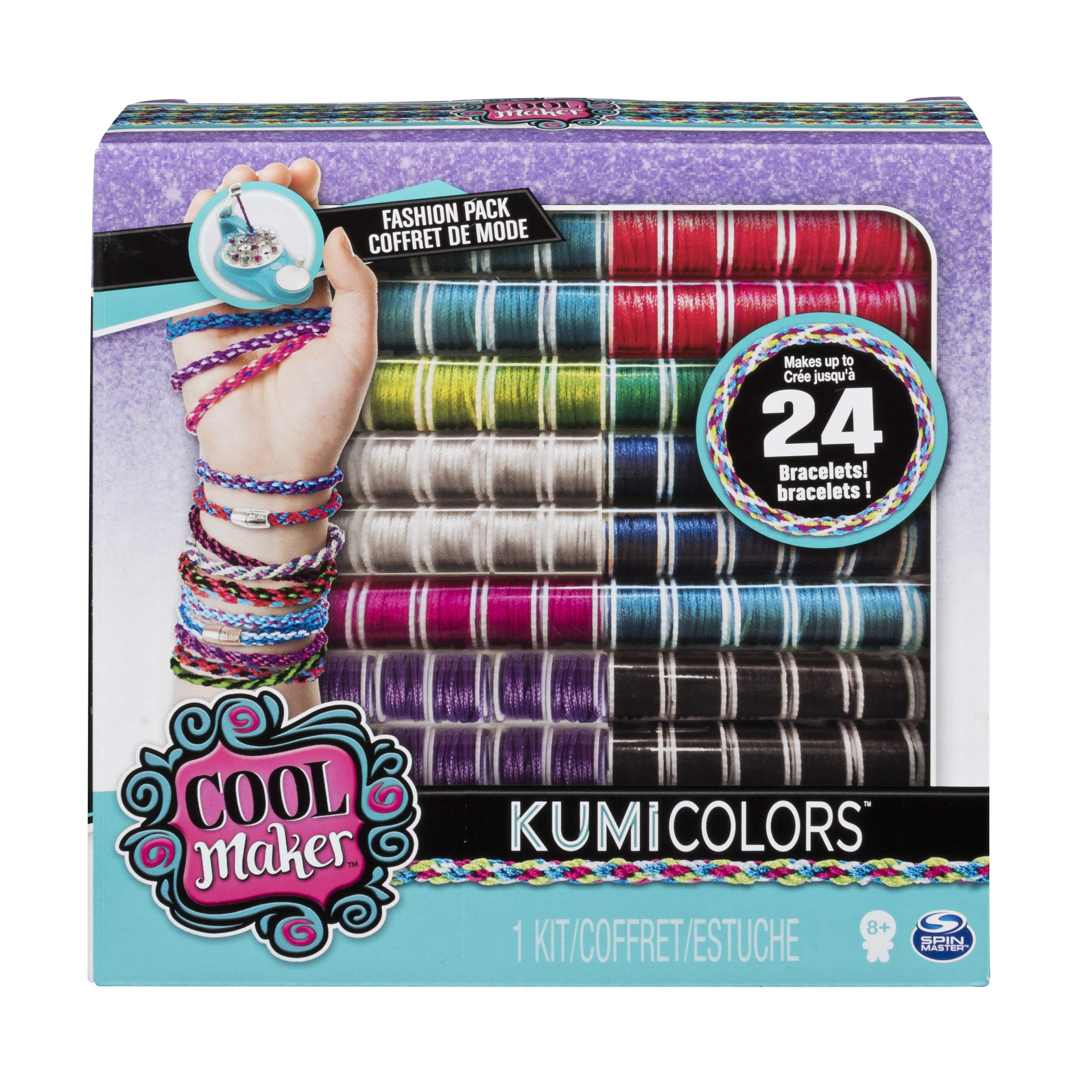 Cool Maker - KumiColors Jewels & Cools Fashion Pack, Makes Up to 24 Bracelets with the KumiKreator, for Ages 8 and Up