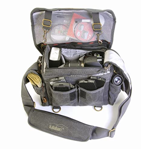 Kalahari Mata K-11 - Bolsa para cámara Reflex, Negro