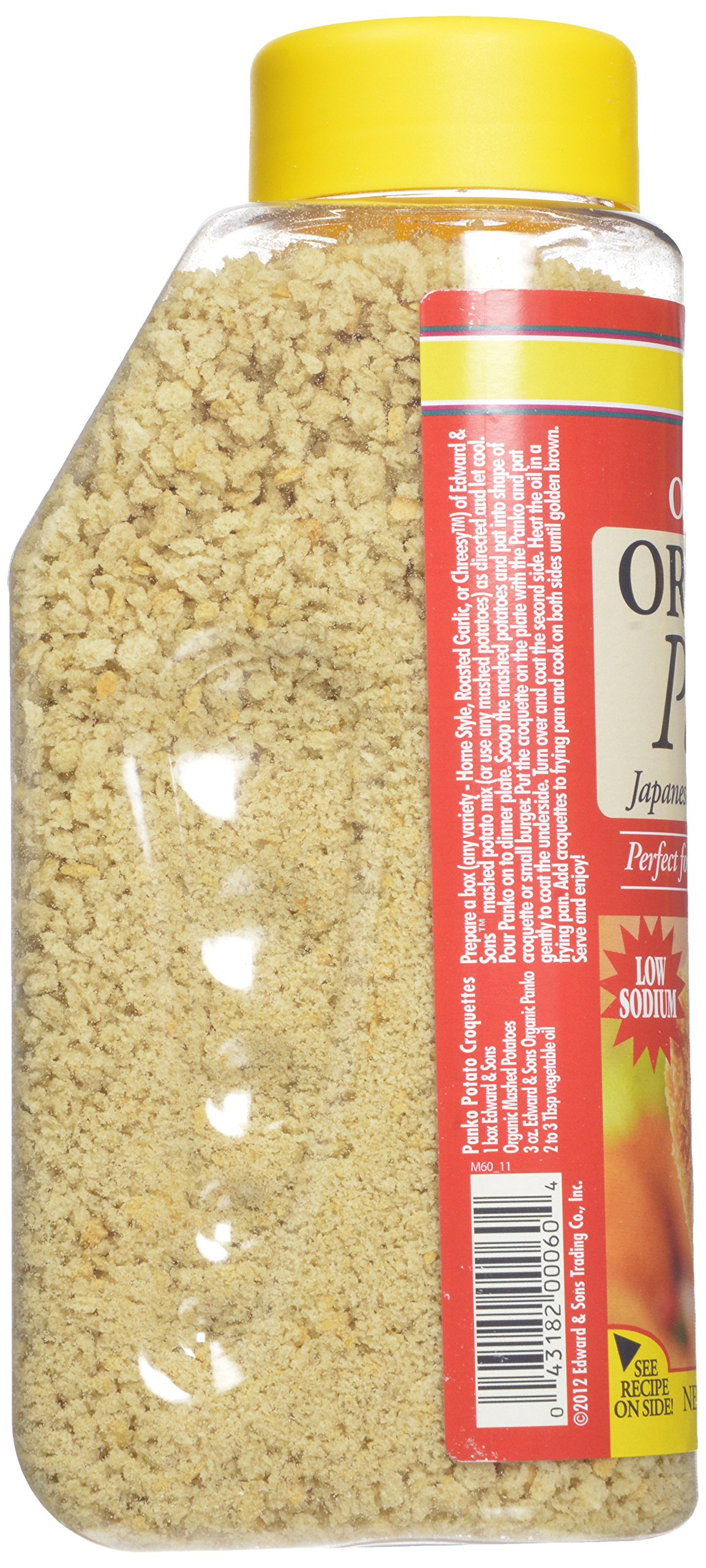 Edward & Sons Organic Panko, Japanese Style Breadcrumbs, 10.5-Ounce Canisters (Pack of 6) by Edward & Sons (Image #5)