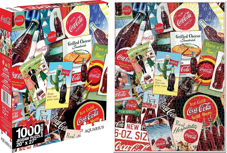 Aquarius Coca Cola Collage 1000 Teile Puzzle