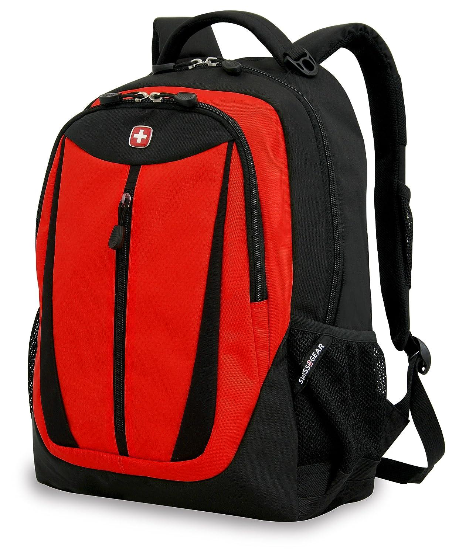 Amazon.com: SwissGear SA3077 Black with Red Lightweight Computer ...