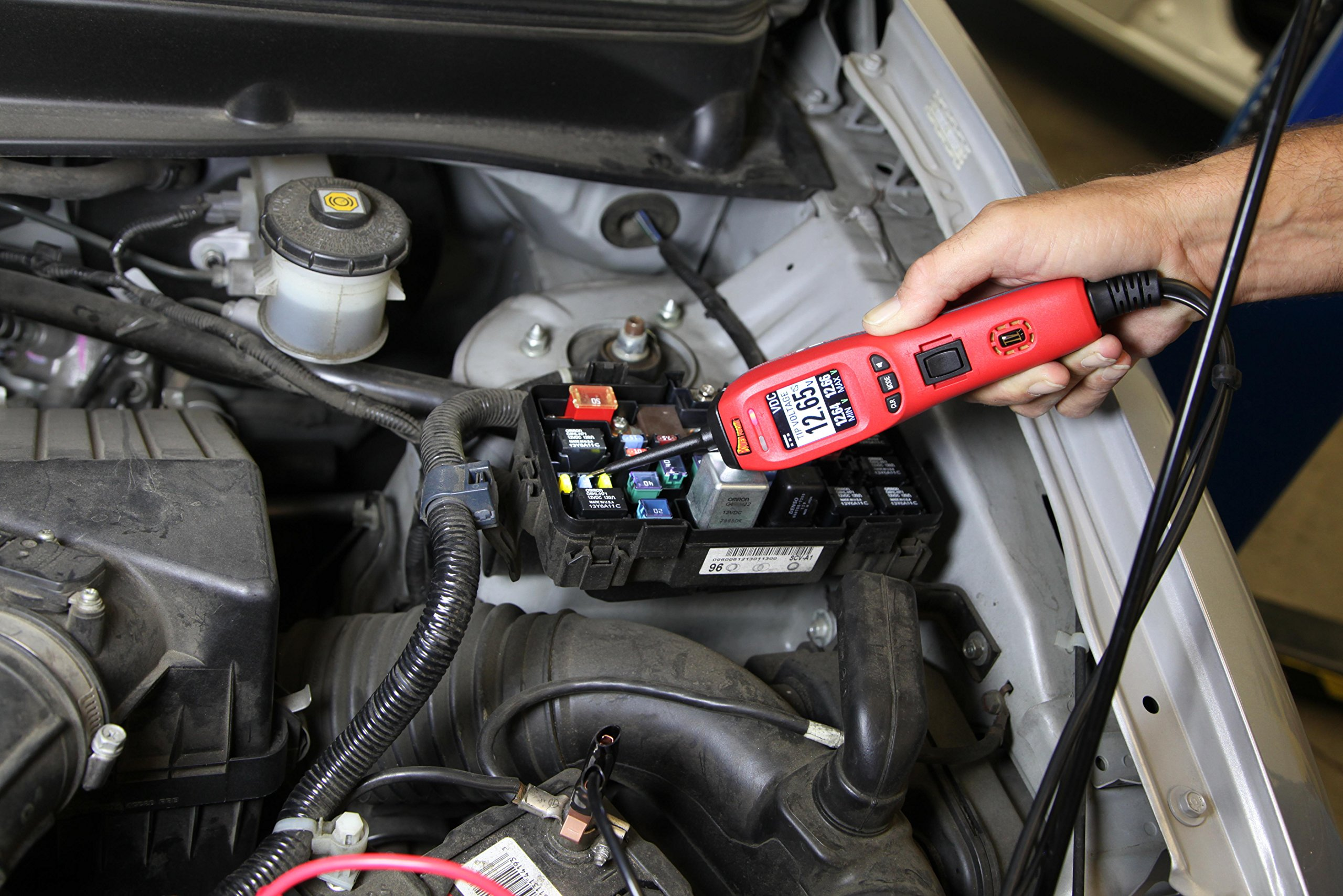 Power Probe IV w/Case & Acc - Red (PP401AS) [Car Diagnostic Test Tool Digital Volt Meter ACDC Current Resistance Circuit Tester Fuel Injector Tester] by Power Probe (Image #3)