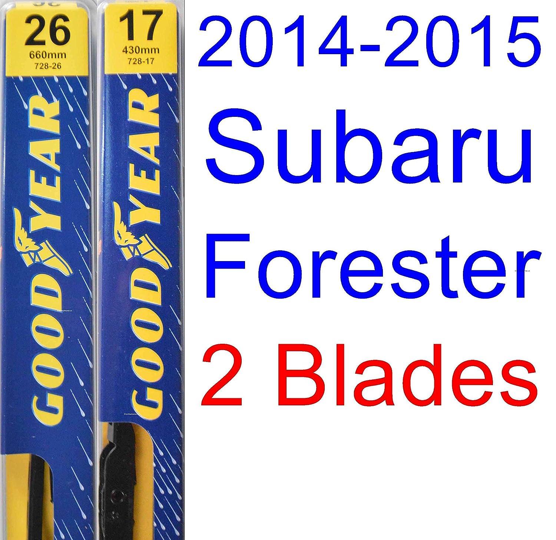 amazon com 2014 2015 subaru forester replacement wiper blade set rh amazon com