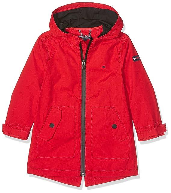Tommy Hilfiger DG THKB Trainer Coat 36 Parka, Abrigo para Niñas, Rojo (Mars