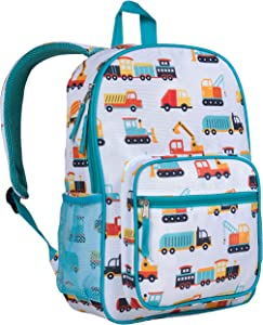 Wildkin Day2Day Kids Backpack for Boys and Girls, Measures 14.5 x 10.75 x 3.75 Inches Backpack for Kids, Ideal Size for School and Travel Backpacks, BPA-Free (Modern Construction)