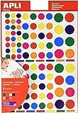 Apli 946029 - Pack de 6 hojas de gomets, multicolor