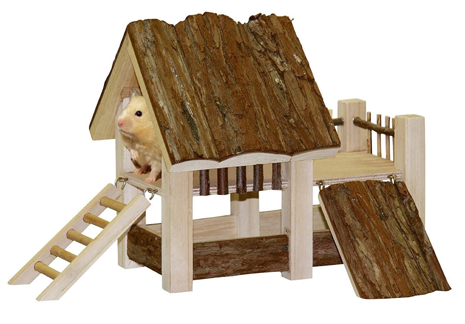 Kerbl Wooden House Nature 34 x 27 x 22 cm