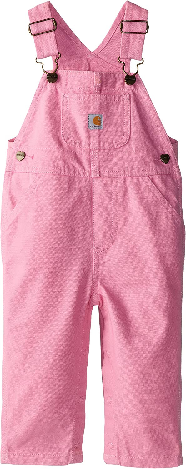 Carhartt Girls Little Washed Miscrosanded Canvas Bib Overall