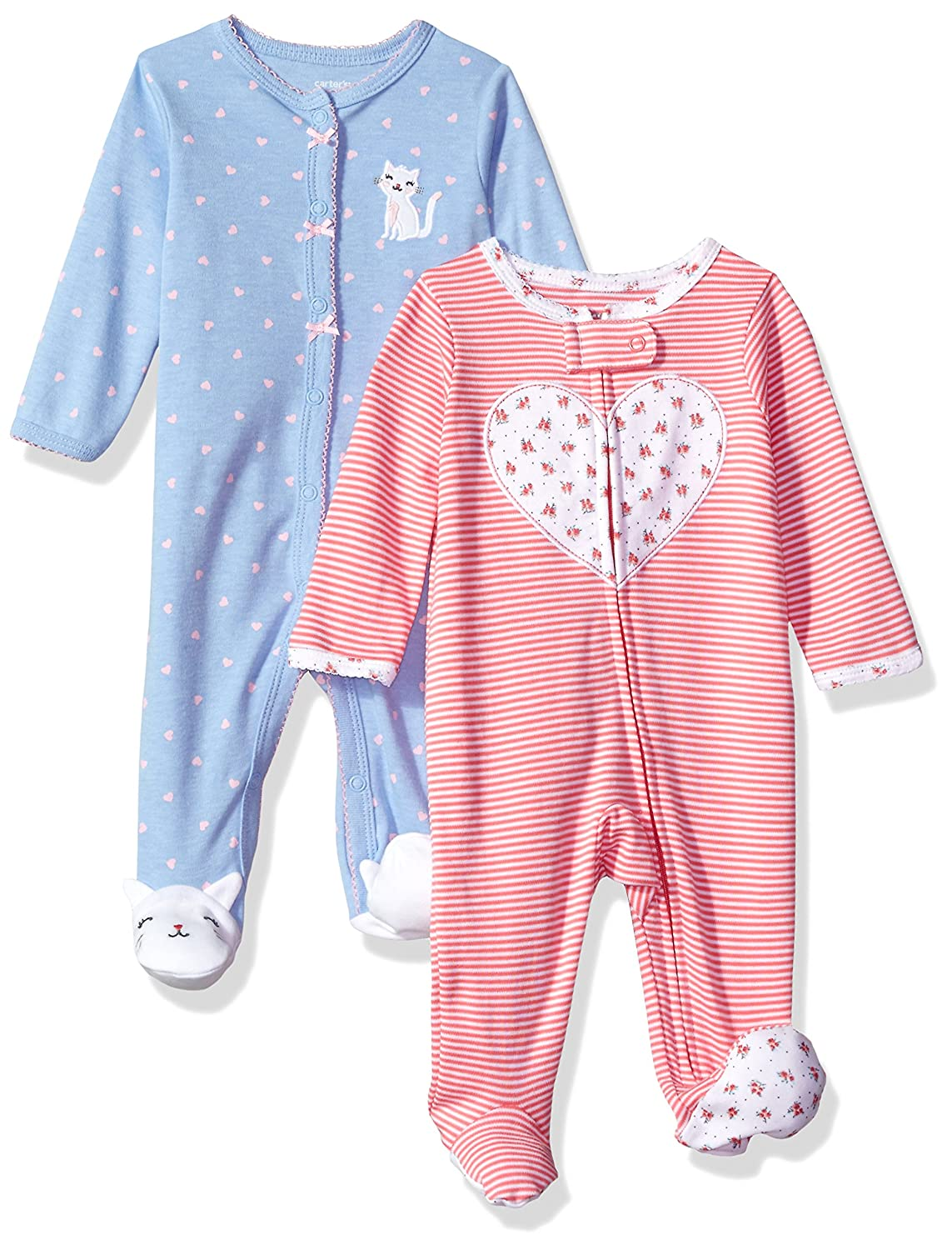 Carters Girls 2-Pack Cotton Sleep and Play