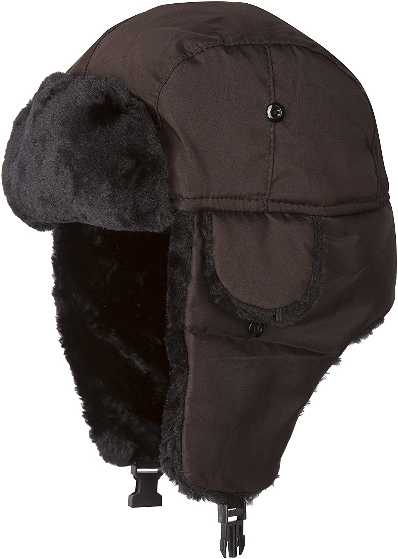 Sakkas Harper Unisex Faux Fur Nylon Trooper Hat 5055460167478
