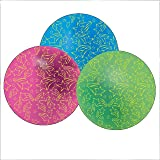 Dozen Assorted Color Glow In The Dark Star Theme Beach Balls