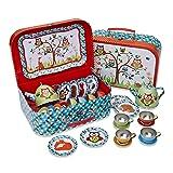 Lucy Locket Woodland Animals Kids Tin Tea Set