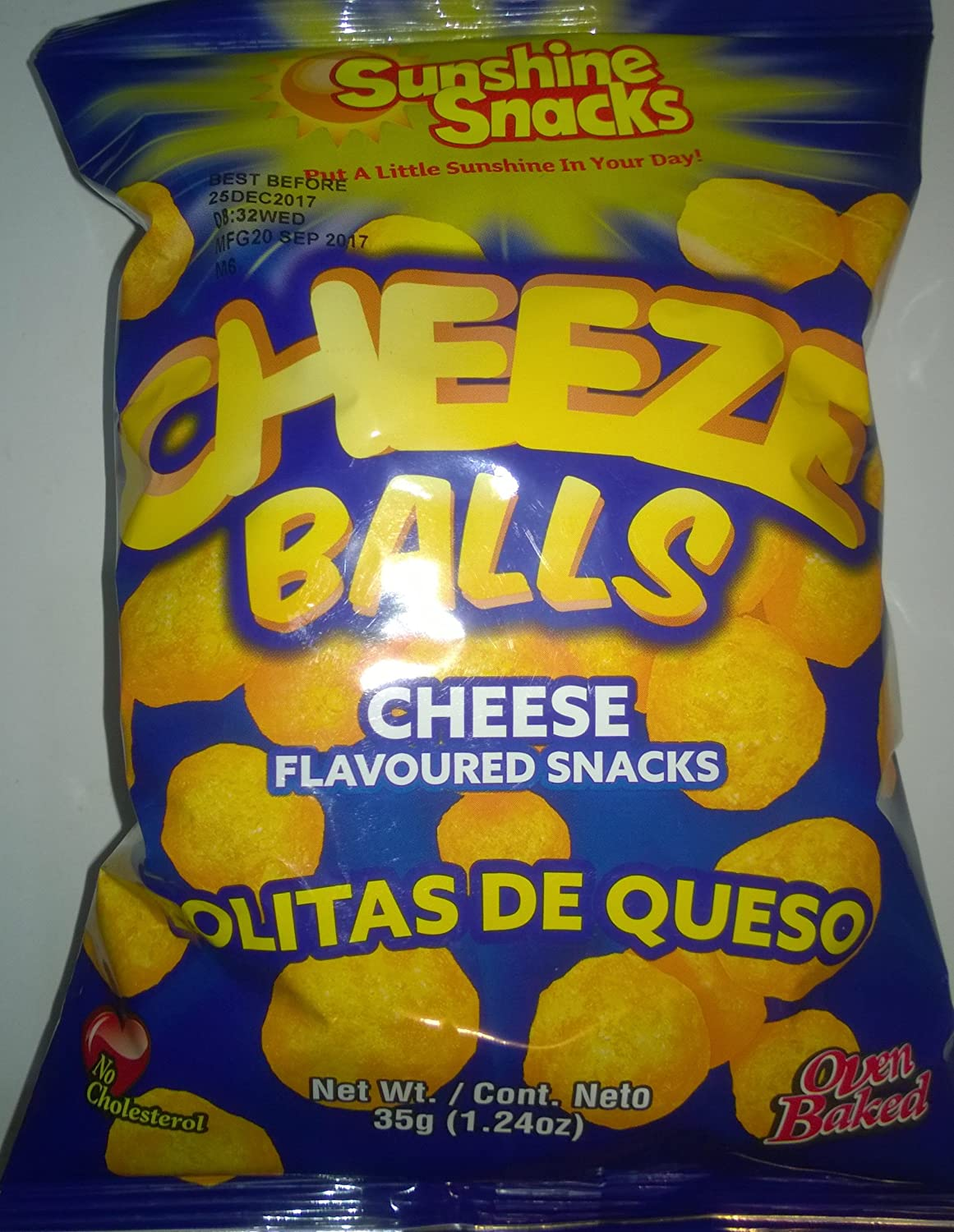 Sunshine Oven Baked Snacks (pack of 12) (Cheeze Balls, 35g)