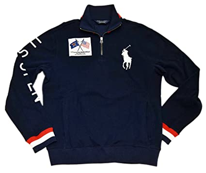 0ba7a56bc Image Unavailable. Image not available for. Color  Ralph Lauren Polo Golf  Mens US Open Big Pony Half-Zip Sweater ...