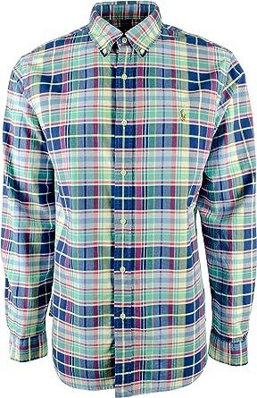Polo Ralph Lauren - Camisa de cuadros grandes y altos para hombre N-4XB: Amazon.es: Ropa y accesorios