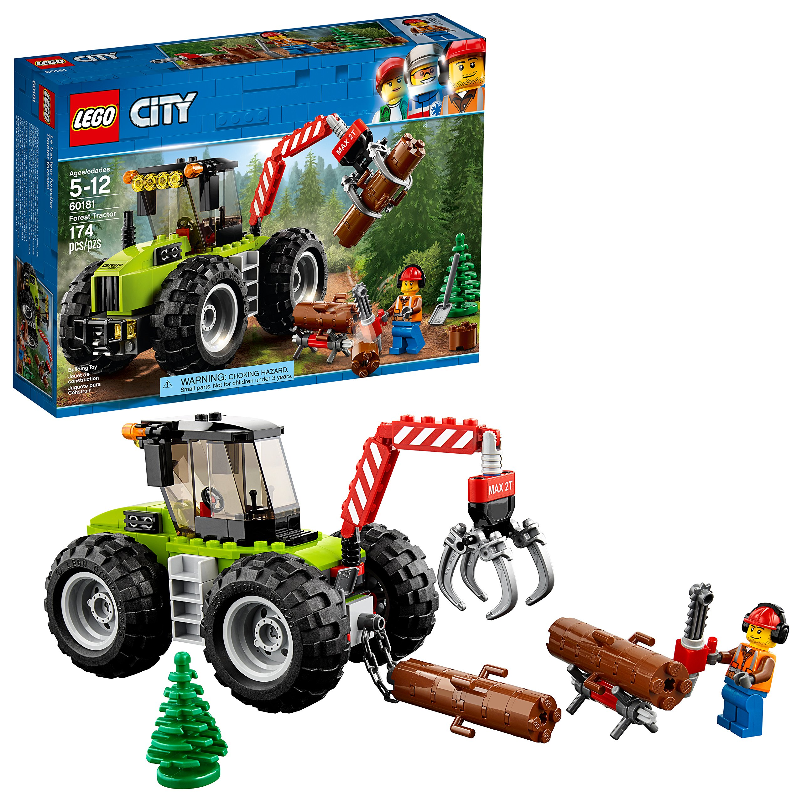 LEGO City Forest Tractor 60181 Building Kit (174 Pieces) by LEGO
