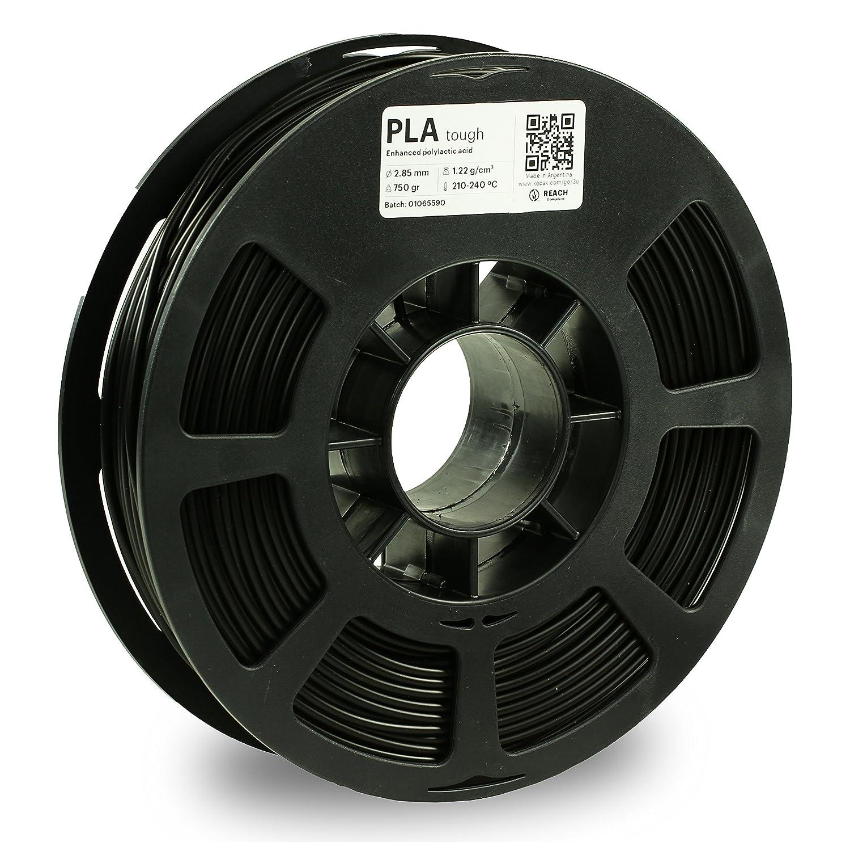 KODAK Tough PLA Pro 3D printer filament BLACK color, +/-0.03 mm, 750g (1.6lbs) Spool, 1.75 mm. Lowest moisture premium filament in Vacuum Sealed Aluminum Ziploc bag. Fit Most FDM Printers