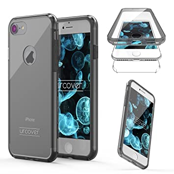 Urcover® Apple iPhone 5 / 5s / SE Funda Versión Mejorada Funda Carcasa Apple iPhone 5 / 5s / SE [Completa 360 Grados ] TPU Negro Crystal Clear Case ...
