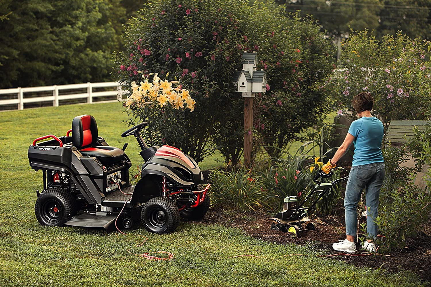 Amazon.com : Raven MPV7100 Hybrid Riding Lawnmower Power Generator ...