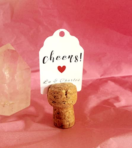 Amazoncom Set Of Fifty Champagne Cork Place Card Holders Handmade