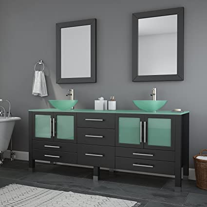 the tub connection 71 inch espresso modern bathroom double vanity set lafayette - Bathroom Double Vanity