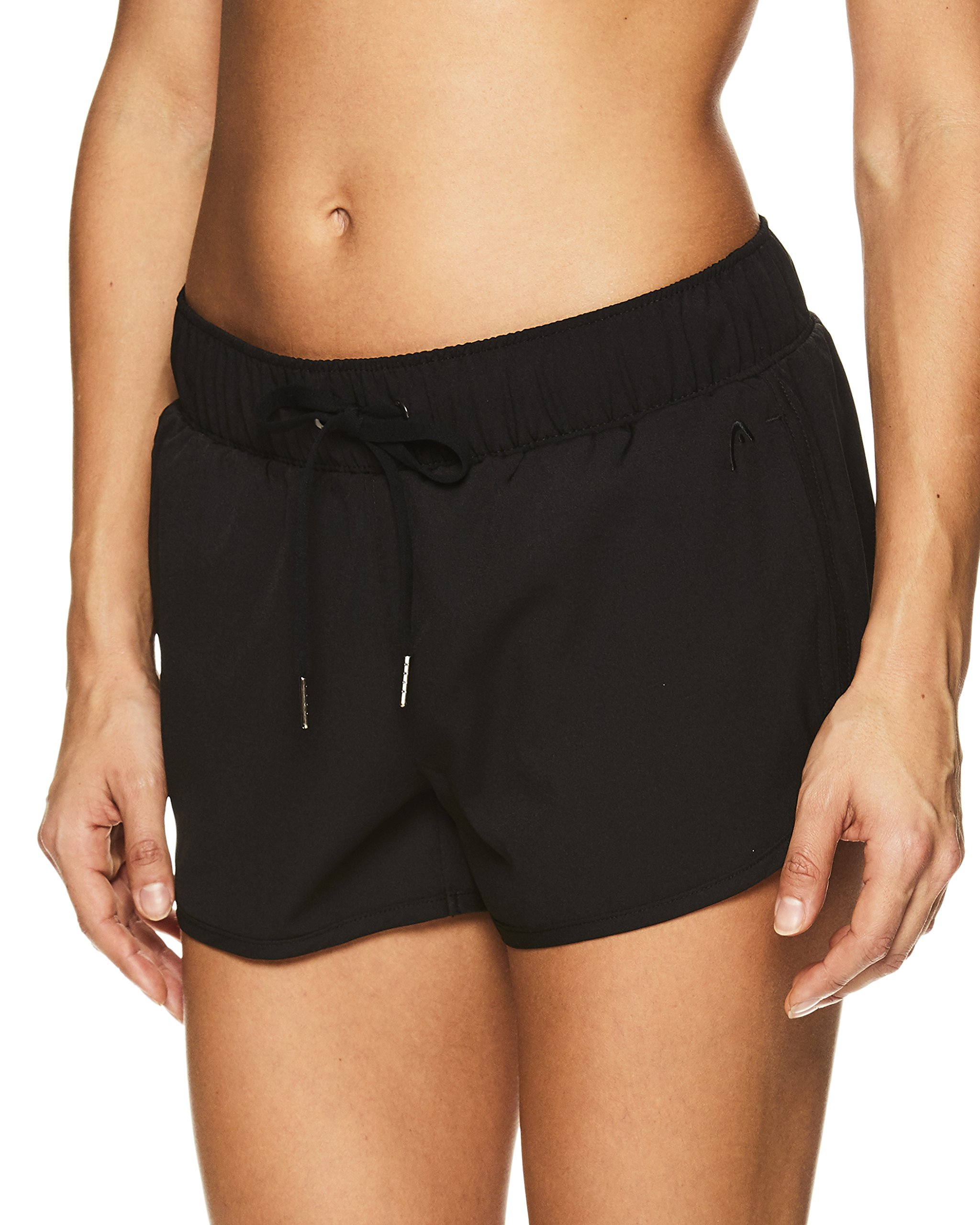 HEAD Women's Athletic Workout Shorts - Polyester Gym Training & Running Short - Black City Walker, X-Small