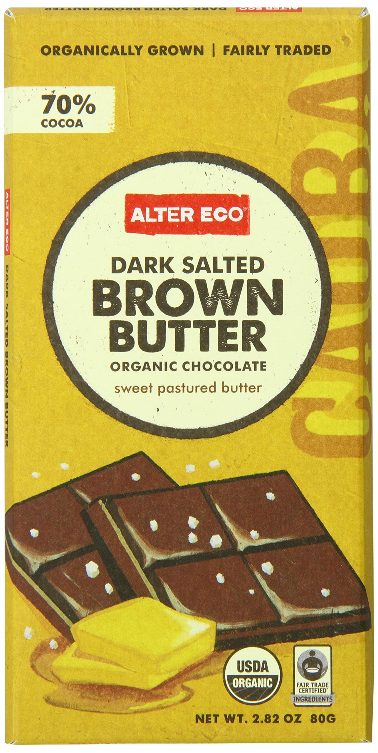 Alter Eco - Chocolate - Dark Brown Butter 70% - Single, 2.82 Ounce