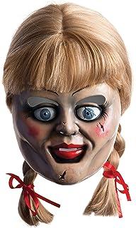 Máscara y peluca de Annabelle para adulto, complemento de disfraz Halloween (Rubies 36561)