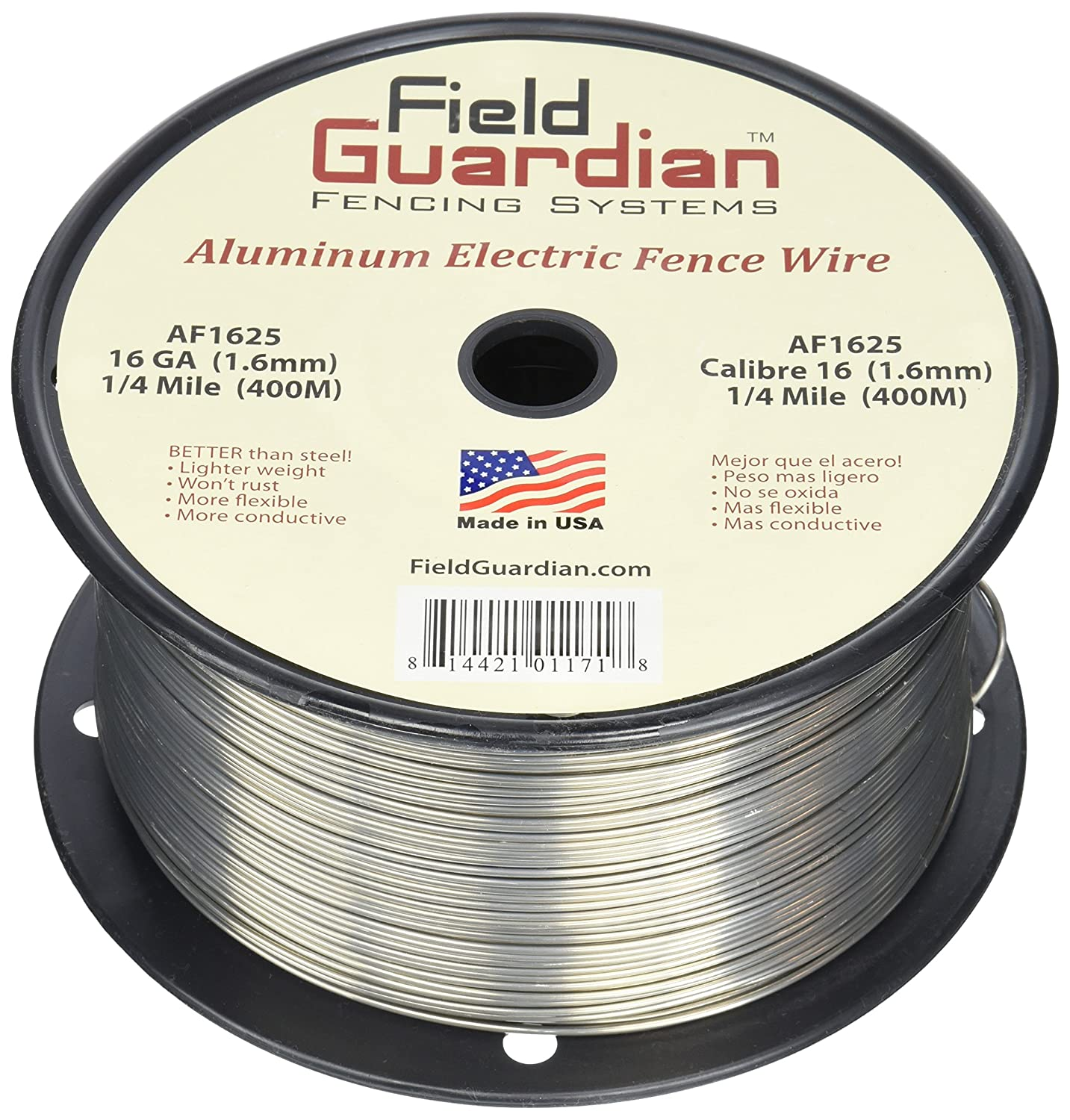 Amazon.com: Field Guardian 16-Guage Aluminum Wire, 1/4 Miles: Pet ...