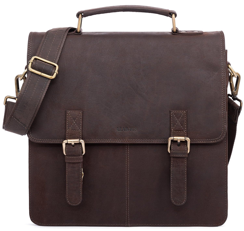 LEABAGS Bolton Aktentasche aus echtem Bü ffel-Leder im Vintage Look - Muskat LEA-Men-Briefcase-Bolton-Muskat