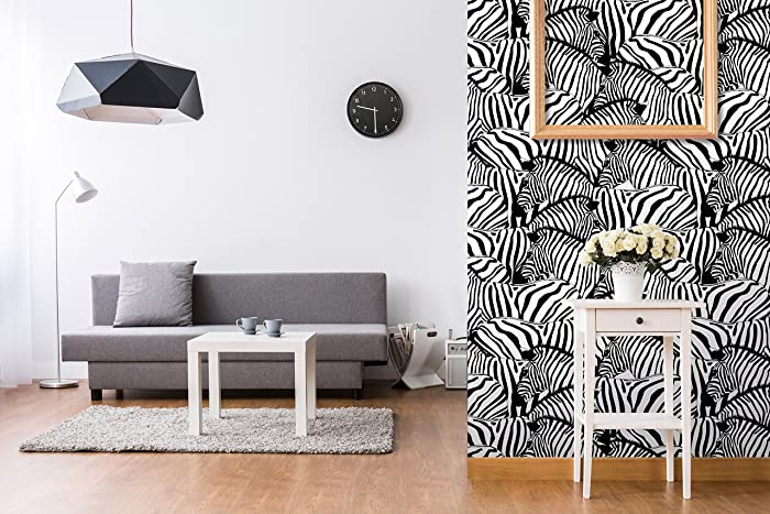 Amazon Com Removable Wallpaper Black And White Safari Zebras Wall