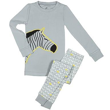 cb665aabe76 Amazon.com  Papallou Boys Zebra Print Pajama Set
