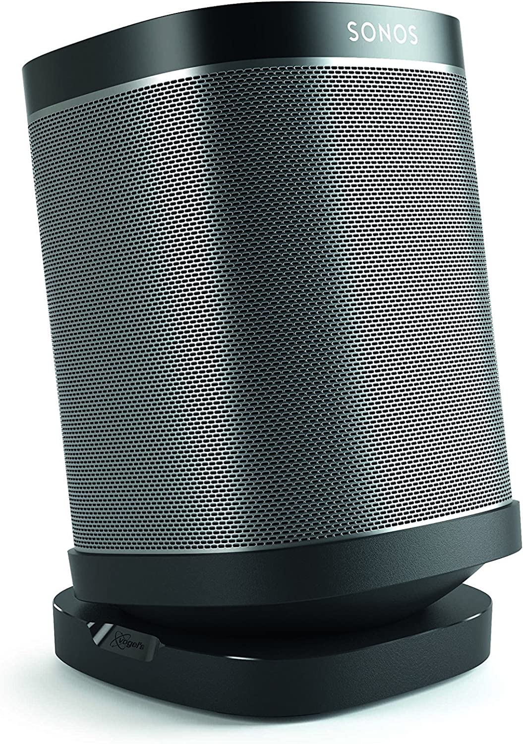 Vogel's Speaker Table Top Stand for SONOS Play - SOUND 4113 B Mount for SONOS One, Play 1 & 3, Black (Single stand)