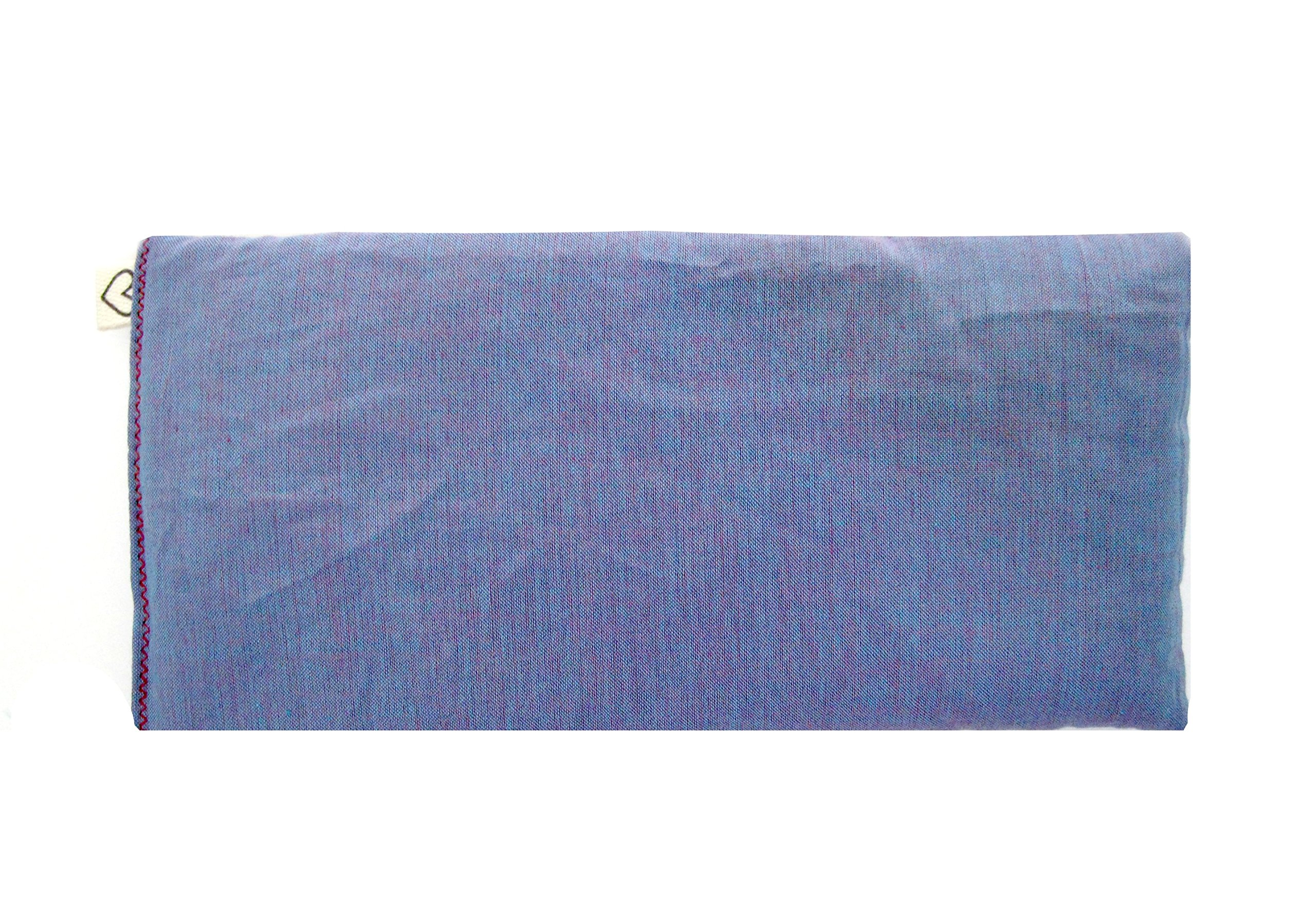Pack of (4) Unscented Organic Flax Seed Eye Pillows - 4 x 8.5 - Soft & Soothing Cotton - soothing relaxing - purple lilac amethyst
