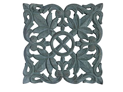 Amazon Com Craftrail Carved Wood Wall Plaques Floral Wood Wall