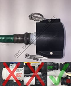 UKC 275/330 IBC FOOD GRADE Tote Drain Adapter 2