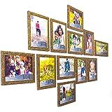 Ajanta Royal Classic Set of 12 Individual Photo Frames (12-6x8 Inch) : A-29 (Gold)