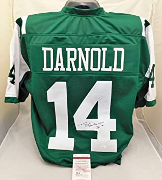 47d37c172bb Image Unavailable. Image not available for. Color: Sam Darnold Autographed/Signed  Authentic Style Green Jets Jersey JSA ...