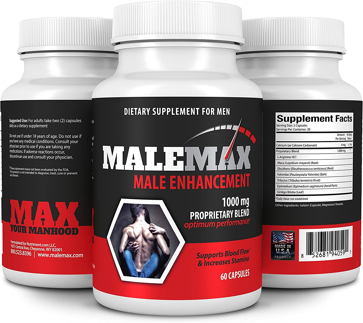 MaleMax Mens Performance Pills- Increase Size Lenght Girth Libido and Quality