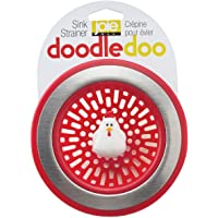 MSC International International 89303 Joie Doodle Doo Kitchen Sink Strainer Basket, Rooster, 4.5-inch, Red