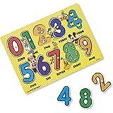 Melissa & Doug Disney Mickey Mouse Numbers Wooden Peg Puzzle (10 pcs)
