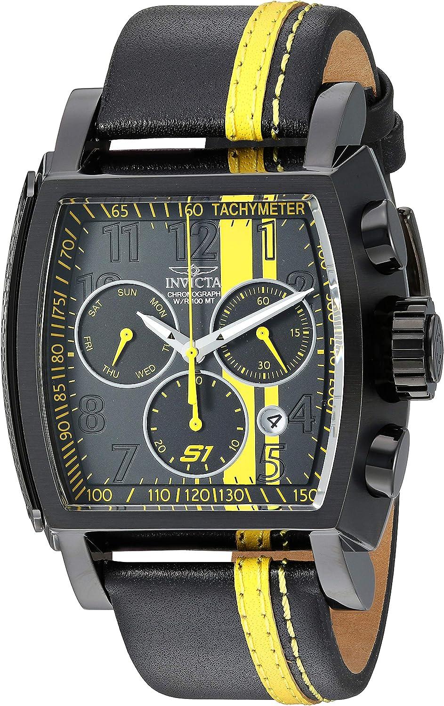 Invicta Men s 26397 S1 Rally Quartz Chronograph Black, Yellow Dial Watch