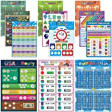 Math Posters for Elementary School Laminated Educational Math Chart for Kids Classroom Learning Multiplication Division Addit
