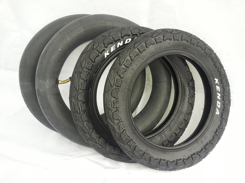Neumáticos Kenda 2x + juego de mangueras Cochecito de 12 pulgadas 12 1/12 x 2 1/4 62-203