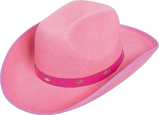 ca602c3d5b9dd Pink   Kangaroo Pink Studded Felt Cowboy Hat