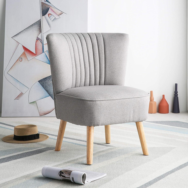 Harrogate colore: grigio chiaro Poltrona a pozzetto in tessuto per camera da letto