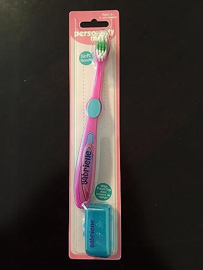 """Personalmente Me niños suave cepillo de dientes infantil personalizado nombre """"Gabrielle"""" ..."""