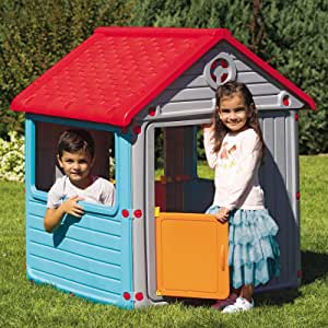 Dolu Casa de juguete para interior o exterior con puerta y ventanas, 104 cm • Niños casa de juguete Jardín infantil Casa Jardín juguete cabaña: Amazon.es: Juguetes y juegos