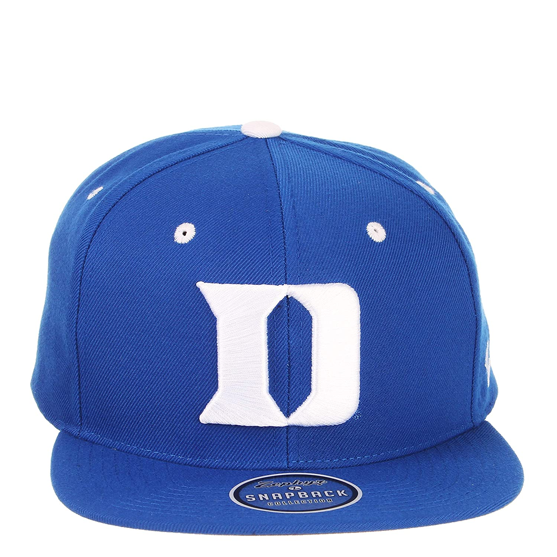 d6b34f8d3e6 Amazon.com   ZHATS Duke Blue Devils Royal Blue Z11 Adjustable Snapback Cap  - NCAA Flat Bill 6-Panel Baseball Hat   Sports   Outdoors