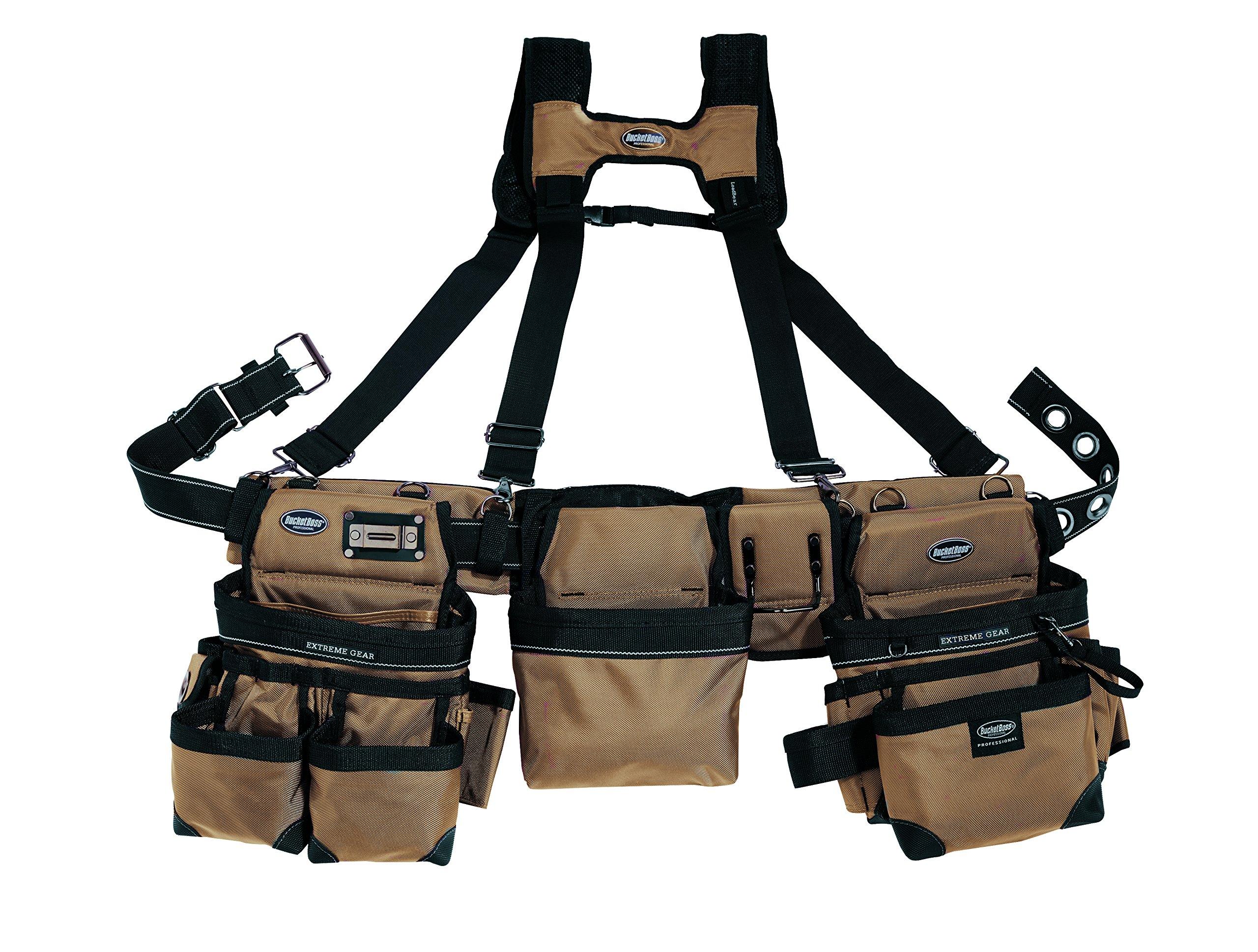 Bucket Boss Bucketboss 55185-TN, Three Bag Framers Rig, Tan & Black